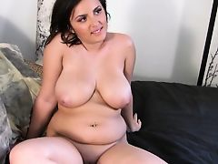 beautiful chubby brunette POV